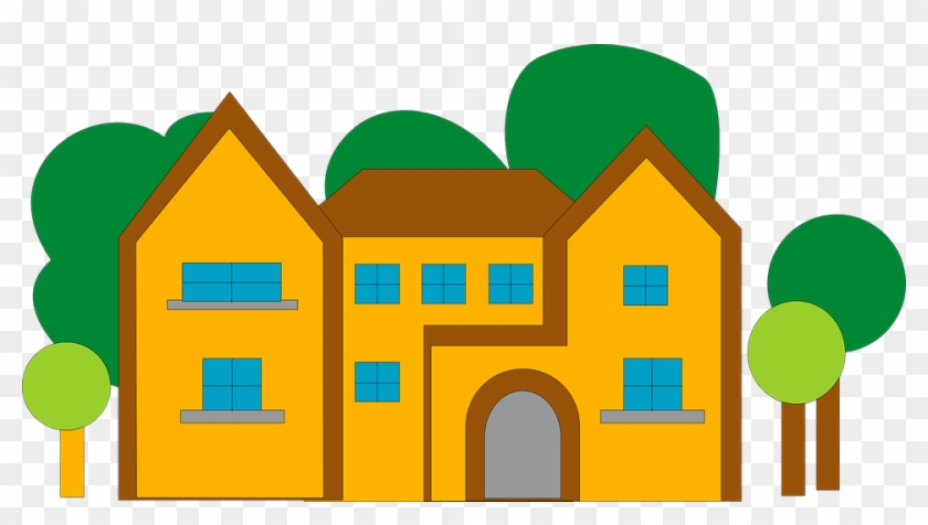 House Home Large Orange Architecture Building - Clipart Buildings #39868