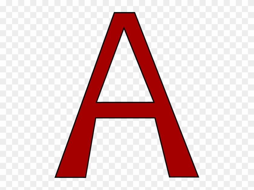 Red Letter A Clip Art Image Large Red Capital Letter Letter A Clip