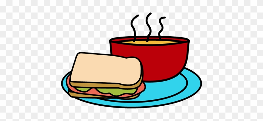 Soup Clip Art Clipart - Soup & Sandwich Lunch #39990