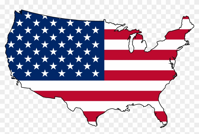 Clip Art Of Us Navy, Clip Art Of Usa, Clip Art Of Usa - United States Map Flag #40070