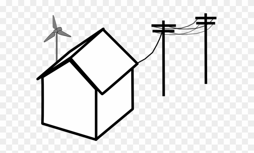 Power Lines Clipart - House With Power Lines #40074