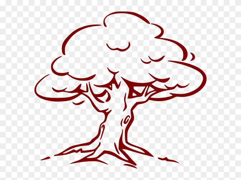 Cartoon Oak Tree #40320