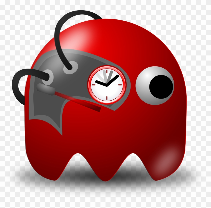 Padepokan Real Timer Clipart, Vector Clip Art Online, - Pac Man Ghost Police #40394