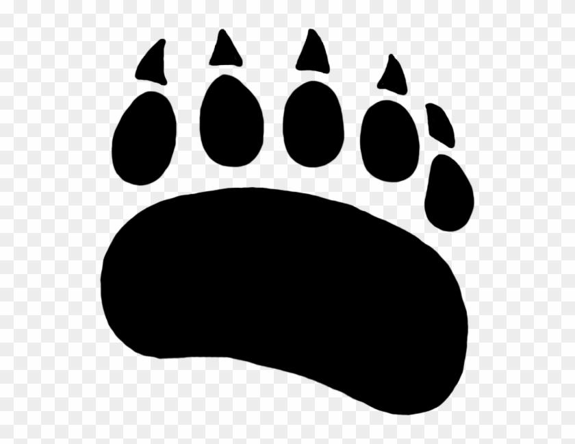 Bear Paw Paw Prints Clipart Wikiclipart Grizzly Paw - Polar Bear Paw Print #40493