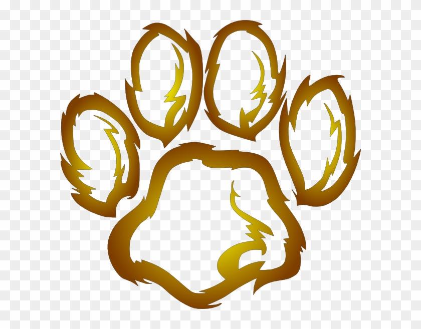 Lion Paw Print Clipart #40497