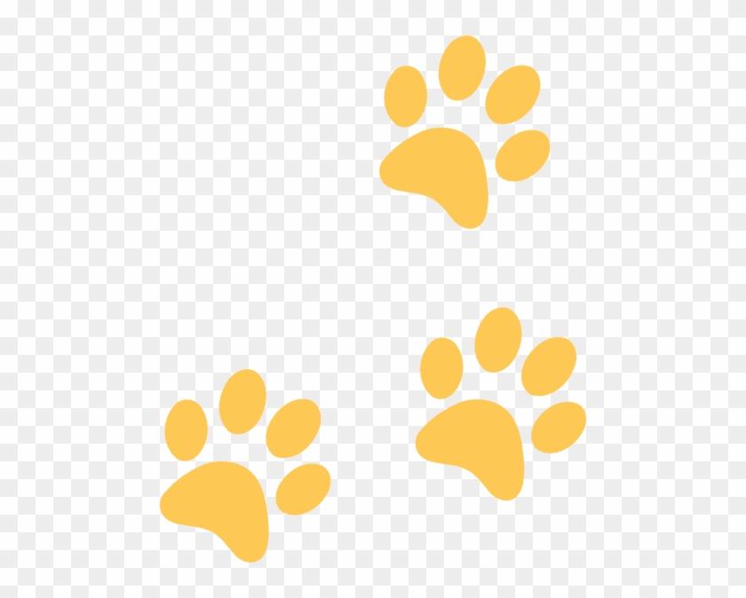 Leopard Paw Print Clip Art - Black And Gold Paw Print #40522