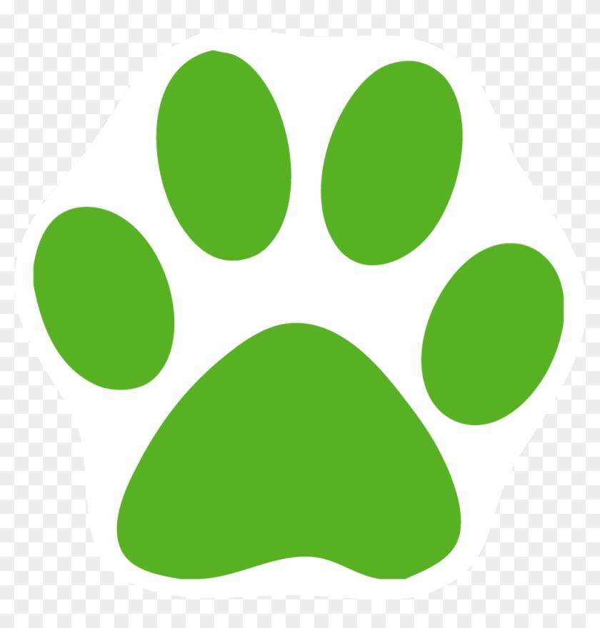 Dog Paw Print Clip Art Cliparts - Green Cat Paw Print #40534