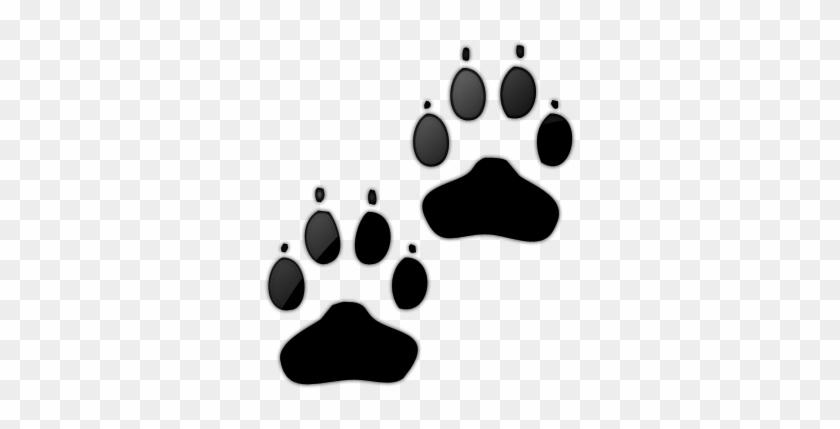 Dog Paw Print Clip Art - Dog Paw Print Icon #40632