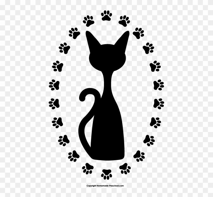 Free Paw Prints Clipart - Cat Paw Prints Clip Art #40662