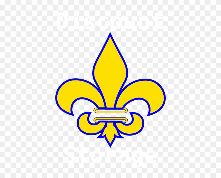 Fleur De Lis Gold With White Clip Art At Clker - Fleur De Lis Svg #40698
