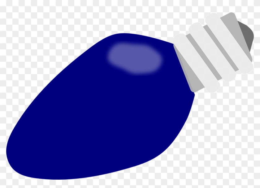 blue christmas light bulb