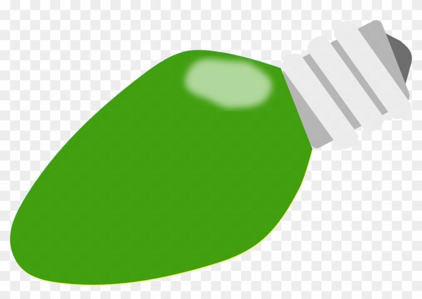 Christmas Lights Christmas Light Bulb Green Clipart - Christmas Light Bulbs Green #40769