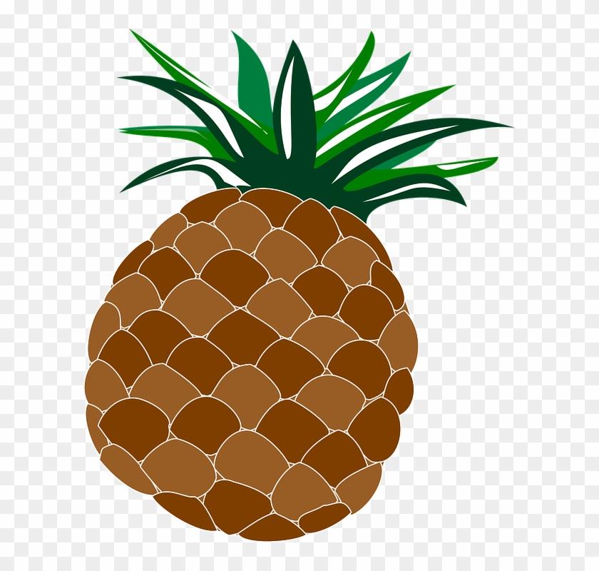 Pineapple Food Fruit Hawaii Hawaiian Luau - Luau Clipart Transparent #40795