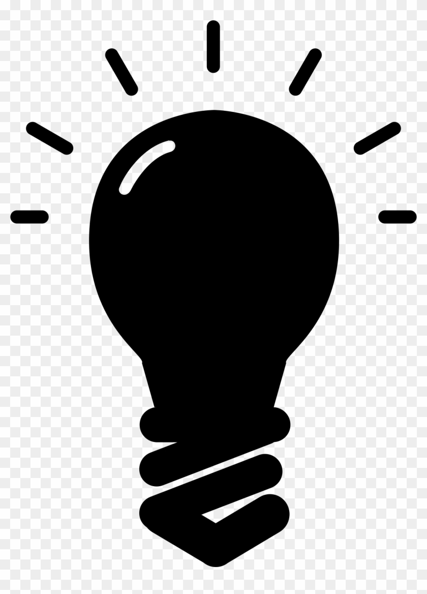 Image Of Clip Art Bulb 6 Light Bulb Icon Clipart Free - Light Bulb Silhouette Png #40954