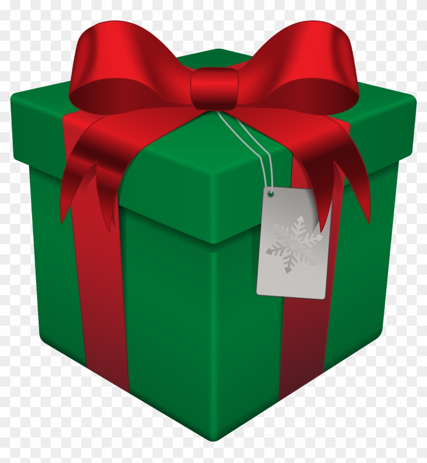 Gift Clipart Green Present - Christmas Gift Box Png #40969