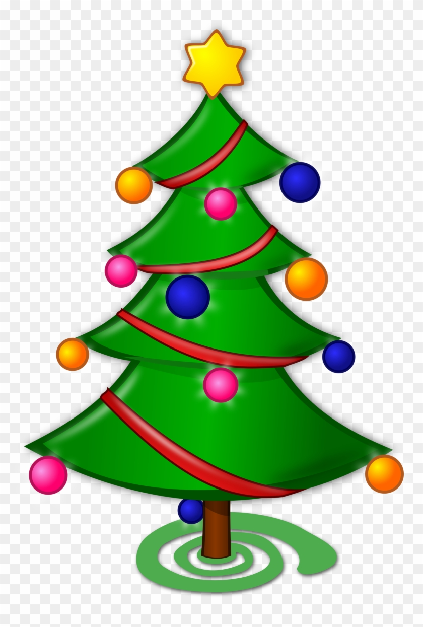 Clip Art Christmas Tree Cutting Clipart New Year Pencil - Merry Christmas Tree Drawing #40987