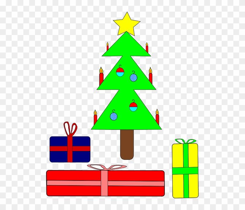 Presents Tree, Recreation, Christmas, Holiday, Presents - Christmas Tree Clip Art #41084