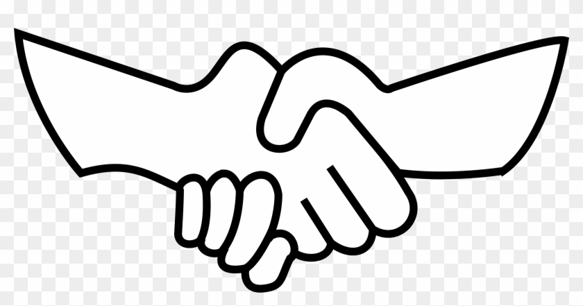Clipart Info Draw Shaking Hands Easy Free Transparent Png
