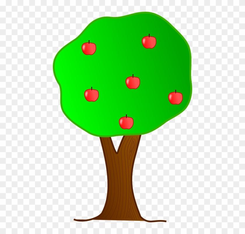 Apple Tree Apples Fruit - Cartoon Trees With Apples #41135