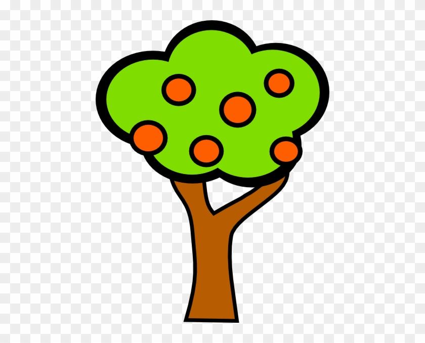 Apple Tree Clip Art At Clker - Apples On A Tree Cartoon #41176