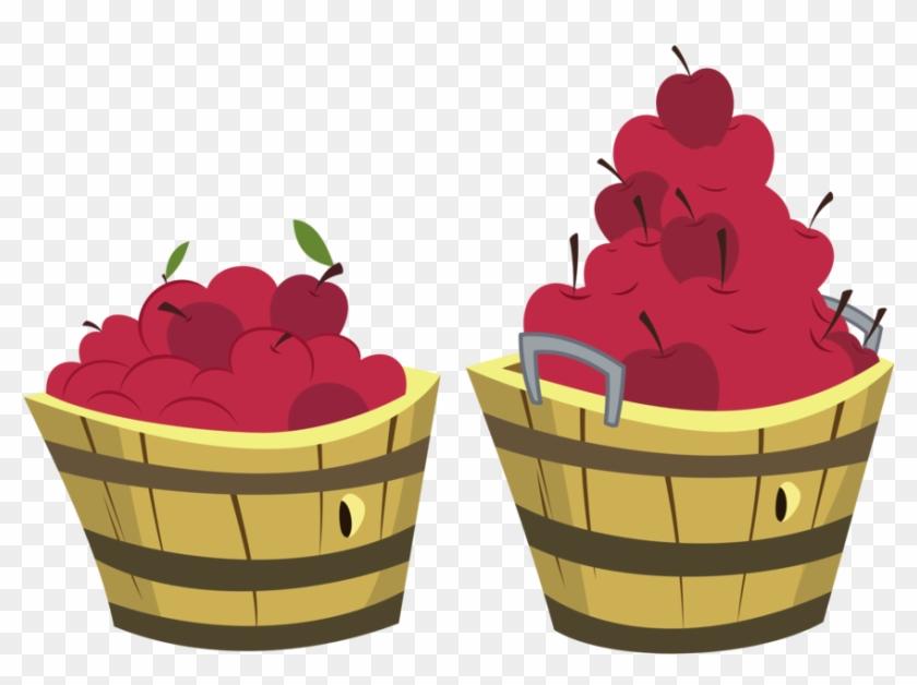 Apple Buckets By Zutheskunk - Bucket Of Apples Transparent Background #41404