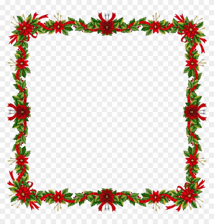 Christmas Border Transparent - Vintage Floral Page Border #41421