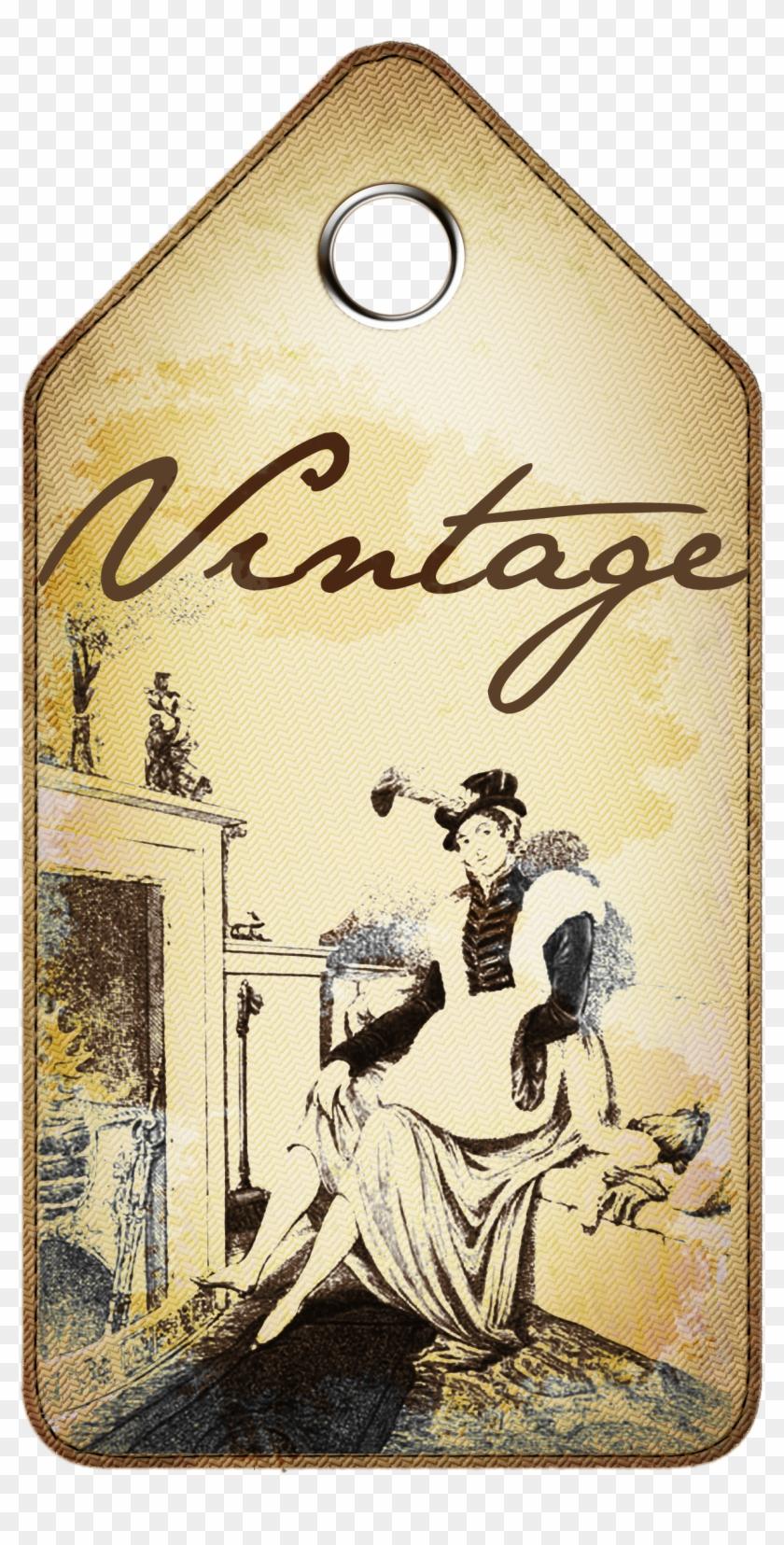Vintage Tag - Vintage Paper Tag Tranparent #41445