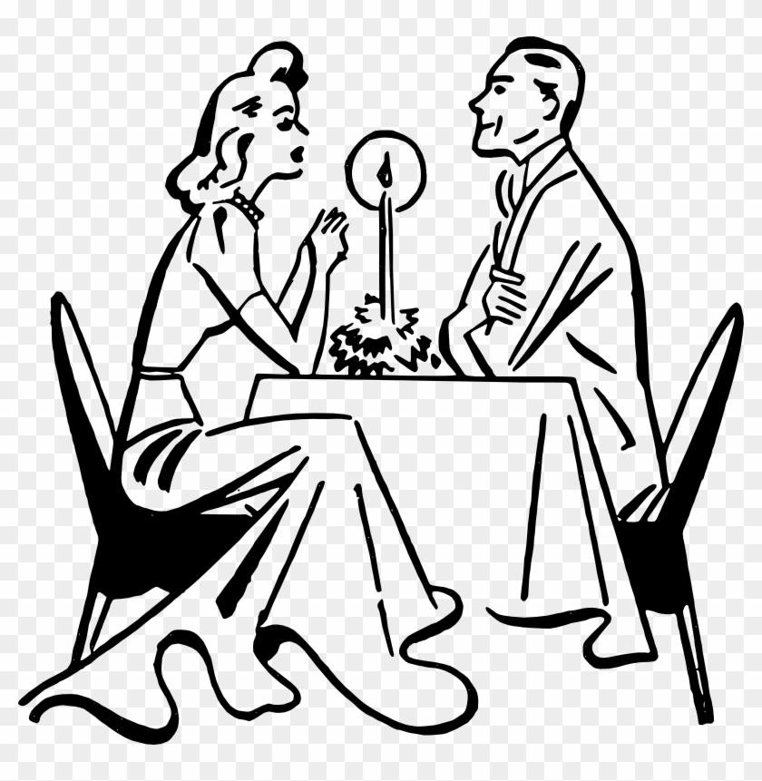 Clipart - Romantic Dinner - Architect Valentines Day #41497