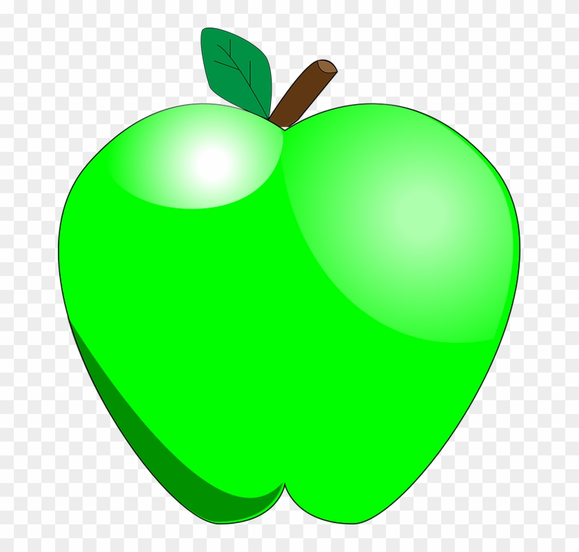 Green Apple, Food, Apple, Fruit, Healthy - Green Apple Clipart #41529