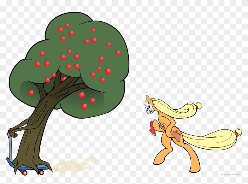 Leave No Apple Tree Unaxed By Randomlywhimsical - Mlp Apple Tree Vector #41534