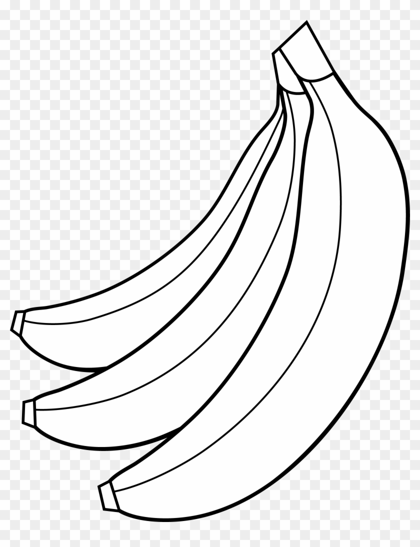 Banana Clipart Black And White - Banana Clipart Black And White #41557