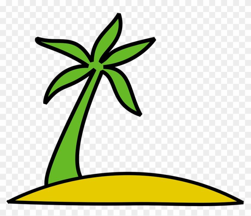 Island Palm Tree Palm Sun Exotic Tropical - Island Clip Art #41952