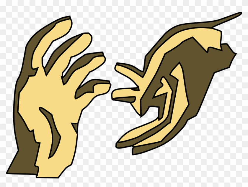Hands Gesture People Help Save Aid Relief - Helping Hands Clip Art #42059