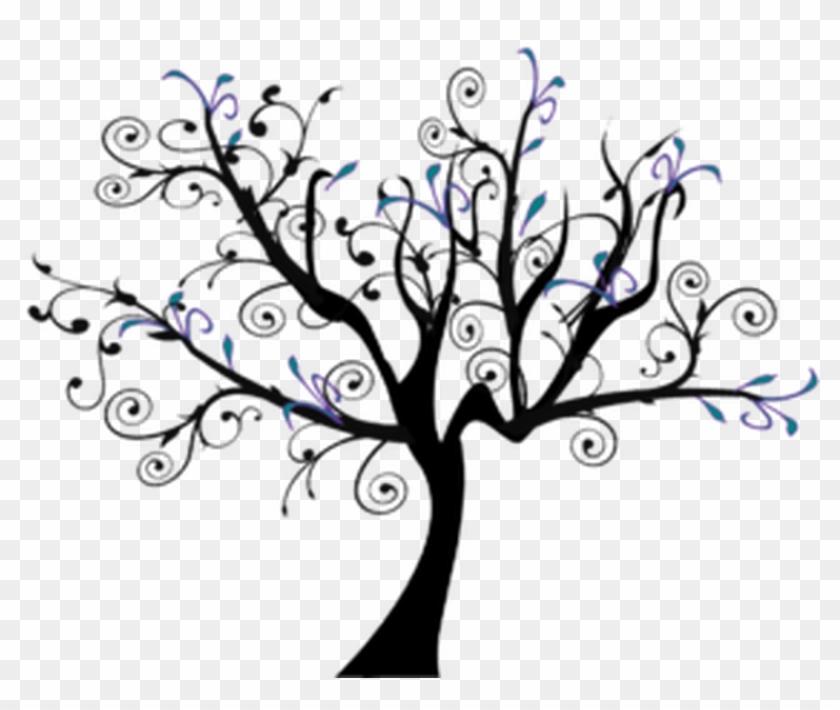Explore Tree Stencil, Stencils, And More - Swirl Tree #42208