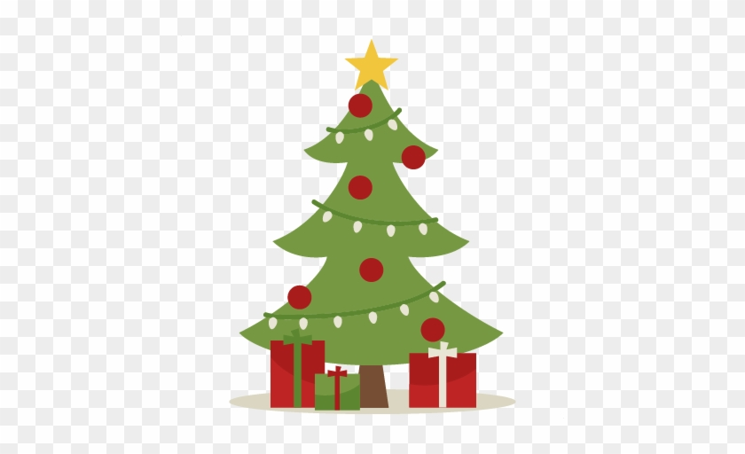 Christmas Tree Clipart Cute - Cute Christmas Tree With Presents #42279