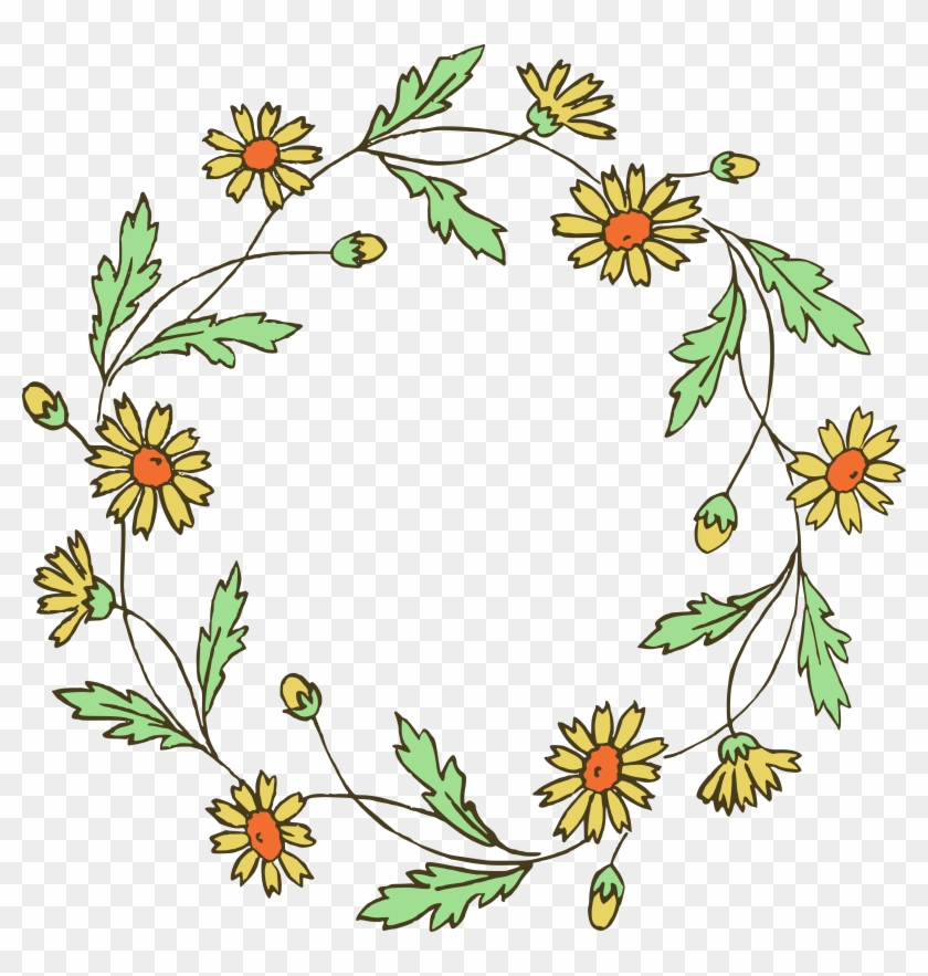 Floral Wreath Clip Art & Vector Images - Simple Tumblr Flower Drawings #42716