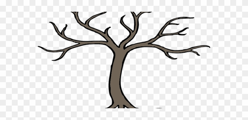 Tree Branch Art Aspiration With 3 Branches Clip At - Bare Tree Clip Art #42730