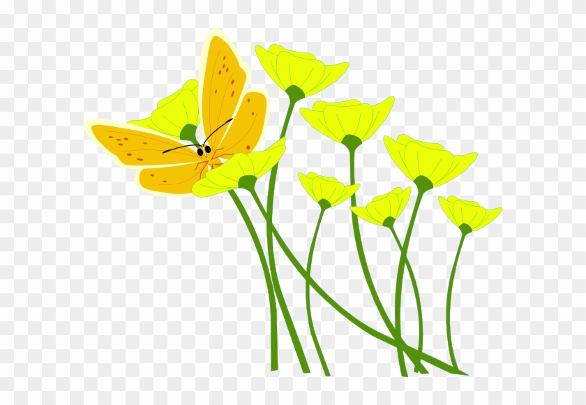 Yellow Flower Clipart - Flower Spring Vector Png #42855