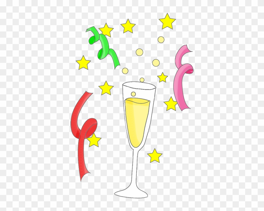 champagne and stars new years eve clip art 43094