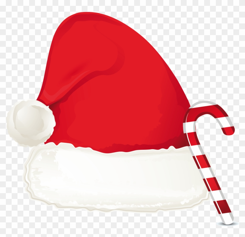 Christmas Hat Transparent.Drawn Santa Hat Transparent Candy Cane With Santa Hat