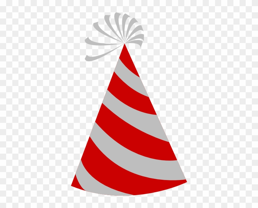 Party Hat Clip Art - Red And White Birthday Hat #43136