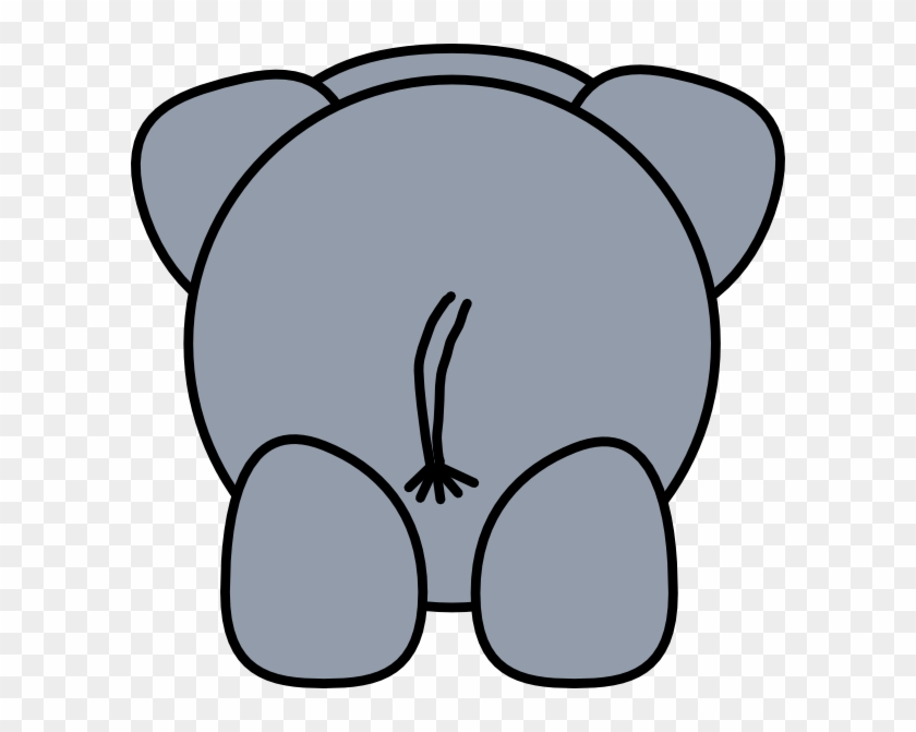 Picture Of Cartoon Elephant - Cartoon Elephant From Behind #43311