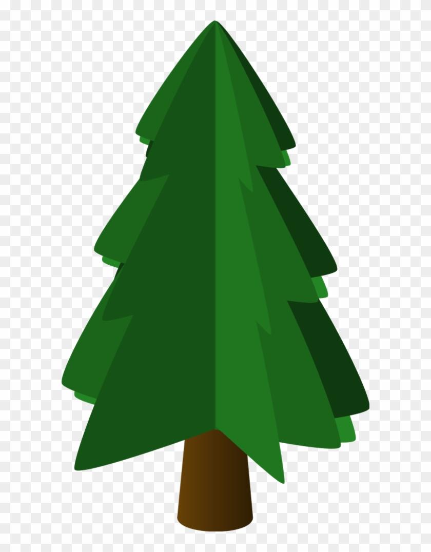 Vector Clip Art - Pine Tree Clip Art #43395
