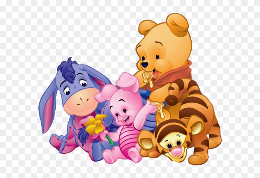 Baby Shower Animal Prints Candy Bag Label All Colors - Pooh Bear And Friends #43539