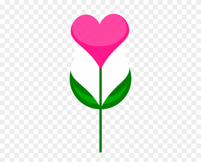 Heart With Flowers Clipart #43574