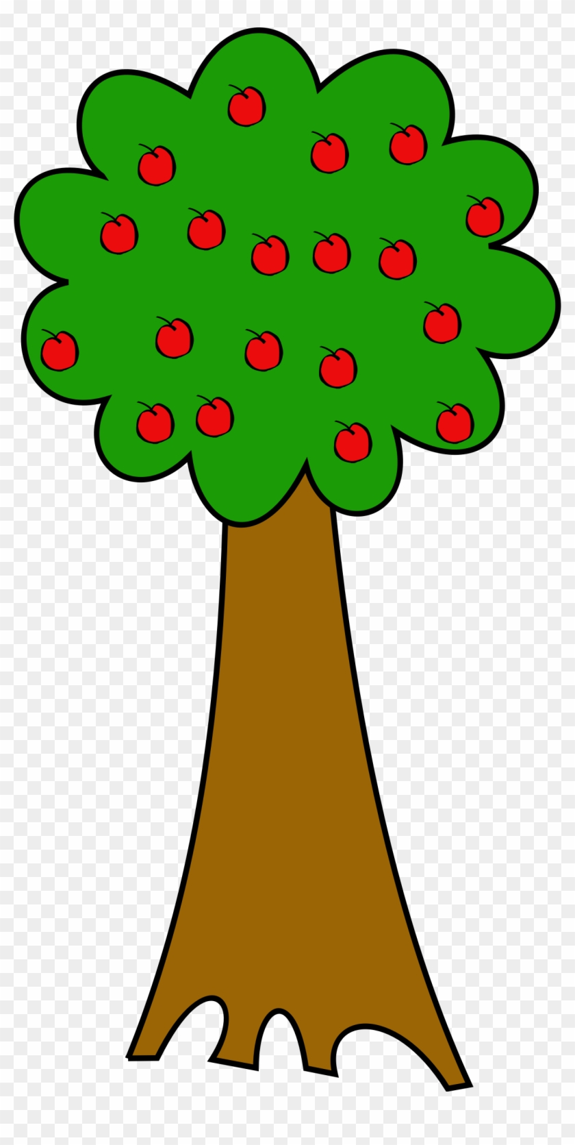 Apple Trees Clip Art - Tree With Fruits #43751