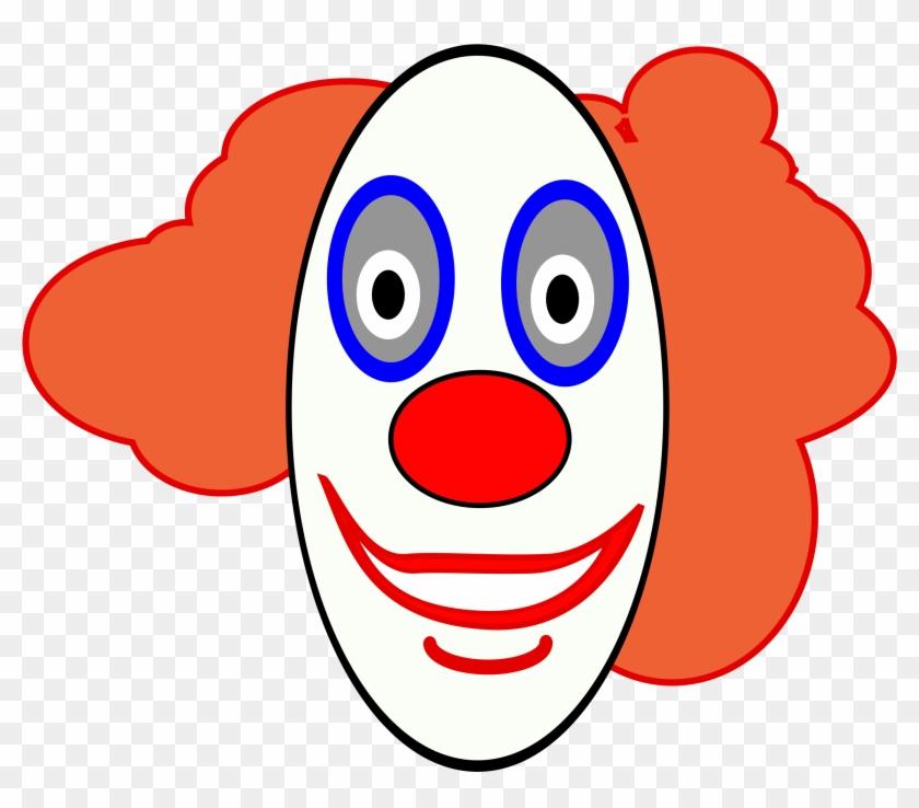 Big Image - Clown Face Clipart #43777