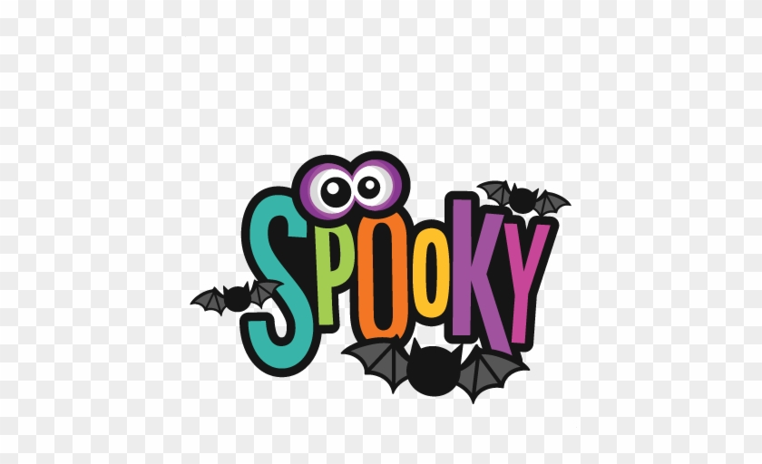 Gorgeous Design Ideas Spooky Clipart Title Svg Scrapbook - Spooky Title #43799