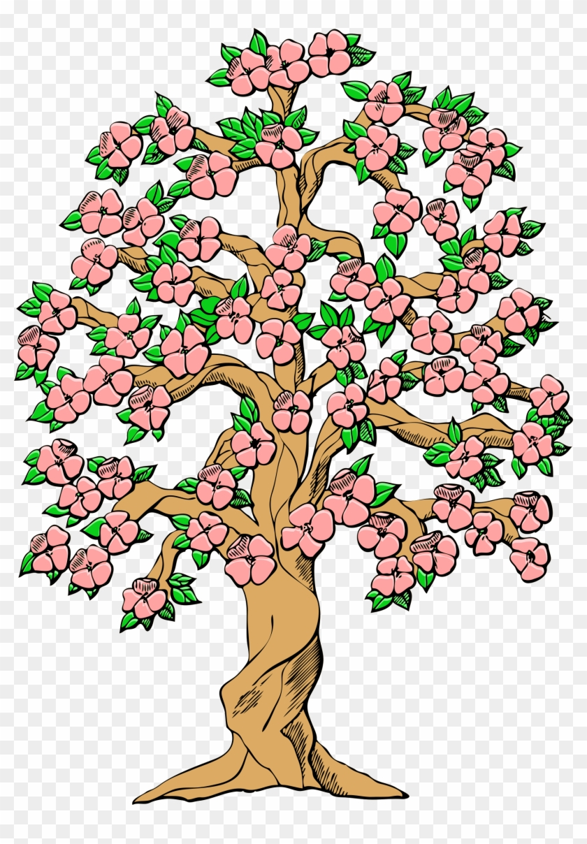 Clipart Spring Flowers Tree Clip Art Free Transparent Png