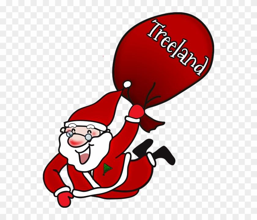 Santa2 - Laughing Santa Claus Large Tote Bag, Natural, Large #44057